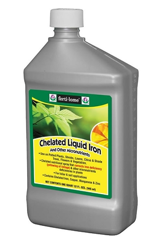 Fertilome Chelated Liquid Iron Plus Micronutrients - Pint (16oz) Bottle